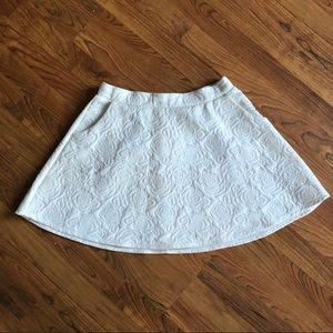 White textured circle skirt